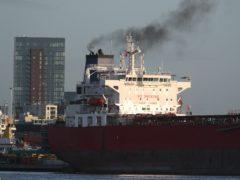 The Nave Andromeda oil tanker (Andrew Matthews/PA)