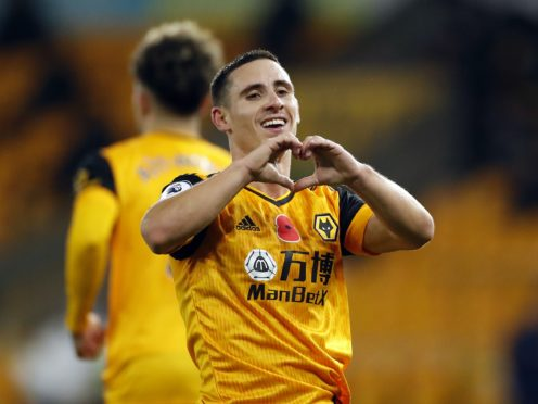 Daniel Podence scored in Wolves' win over Crystal Palace (Andrew Boyers/PA)