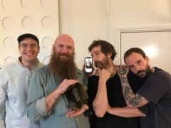 Idles have scored their first number one album (Official Charts Company/PA)