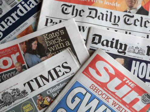What the papers say – October 30 (PA)