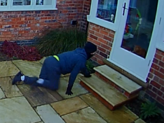 Mark Lawson was caught on all fours around the property in West Bridgford, Nottinghamshire (PA)