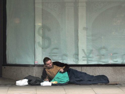 The report highlights 'alarming evidence' of the council knowing of single people sleeping on the streets (Anthony Devlin/PA)