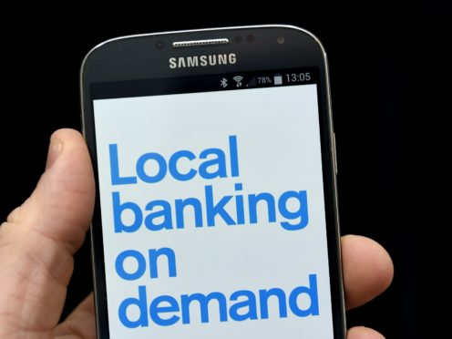 Nearly six in 10 people have a mobile banking app on their phone according to Mastercard (PA)