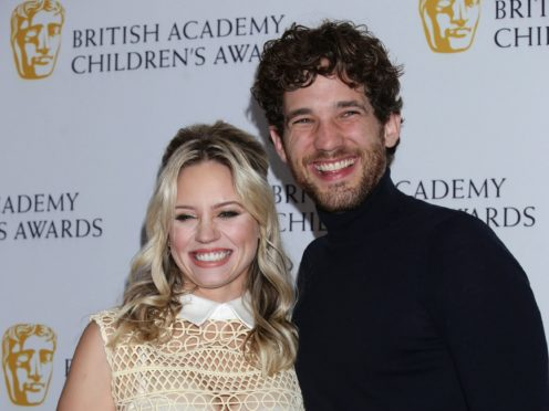 Kimberly Wyatt and her husband Max Rogers (Yui Mok/PA)