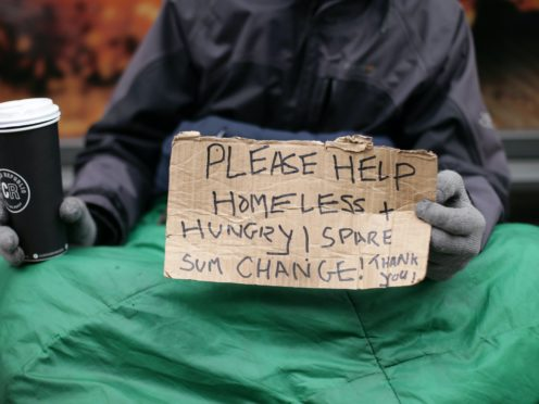 Emergency helpline 'called once every minute' by people facing homelessness (Yui Mok/PA)
