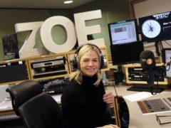 BBC Radio 2 Breakfast Show presenter Zoe Ball (BBC/PA)