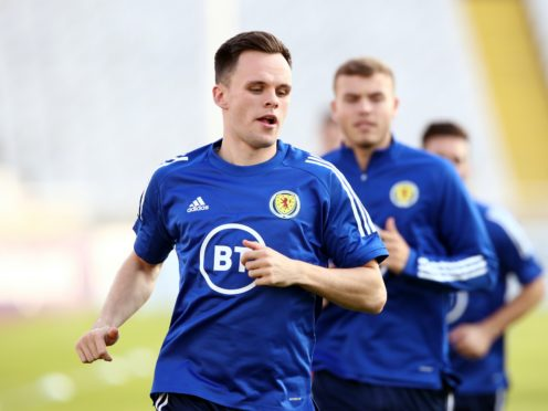 Lawrence Shankland got limited game time with Scotland (Tim Goode/PA)