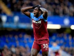 Michail Antonio has missed West Ham's last two matches with a hamstring problem (Adam Davy/PA)