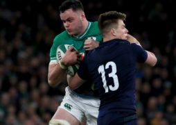 Ireland lock James Ryan, left, is preparing to finish the year against Scotland (Donall Farmer/PA)