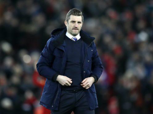 Shrewsbury manager Sam Ricketts was not happy (Martin Rickett/PA)