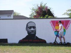 A mural of George Floyd in Dublin (Niall Carson/PA)