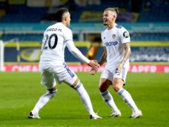 Kalvin Phillips, right, has recovered from a shoulder injury (Catherine Ivill/PA)