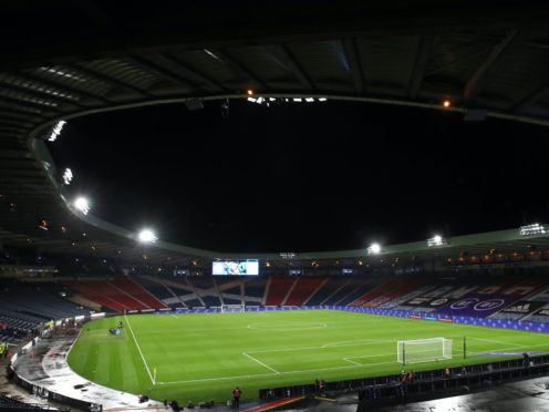 Scotland's crucial Nations League match took place with no fans in attendance at Hampden (Andrew Milligan/PA)