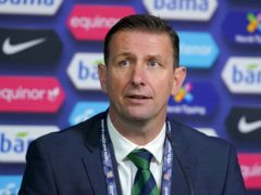 Ian Baraclough has thanked Republic counterpart Stephen Kenny for help ahead of the Slovakia match (Fredrikh Hagen/PA)