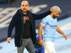 Pep Guardiola is cautious about how to use Manchester City forward Sergio Aguero now he is back from injury (Alex Livesey/PA)