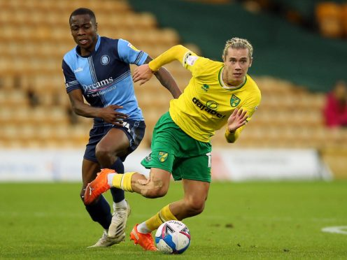 Midfielder Todd Cantwell (right) is one of several injury doubts for Norwich (Nigel French/PA)