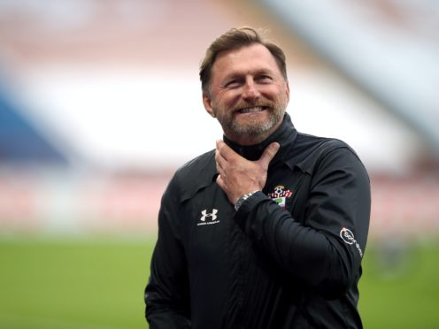 Ralph Hasenhuttl saw Southampton briefly go top of the Premier League table after a 2-0 win over Newcastle earlier this month (Nick Potts/PA)