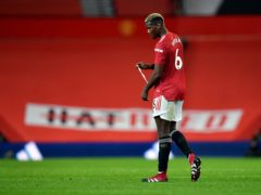 Manchester United's Paul Pogba after the Premier League match at Old Trafford, Manchester (Paul Ellis/PA)