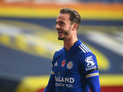 Leicester's James Maddison has returned after a hip operation (Michael Regan/PA)