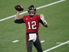 Tampa Bay Buccaneers quarterback Tom Brady looks to throw during the first half of an NFL football game against the New York Giants (Corey Sipkin/AP)