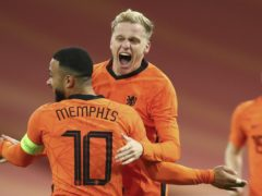 Donny van de Beek struck for Holland (Dean Mouhtaropoulos/AP)