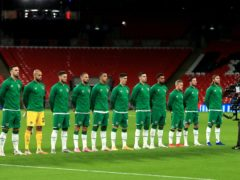 The Republic of Ireland team were shown content before lining up at Wembley (Mike Egerton)