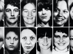 Handout composite photo of twelve of the thirteen victims of Peter Sutcliffe, the Yorkshire Ripper, who has died in hospital. Top row (left to right) Wilma McCann, Emily Jackson, Irene Richardson, Patricia Atkinson, Jayne McDonald and Jean Jordan. Bottom row: Yvonne Pearson, Helen Rytka, Vera Millward, Josephine Whitaker, Barbara Leach and Jacqueline Hill (PA)