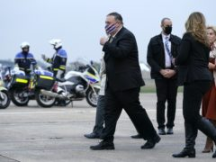 Mike Pompeo arrives in Paris (AP)