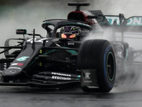 Lewis Hamilton did not set a time during a difficult third practice session (TolgaBozoglu/AP)