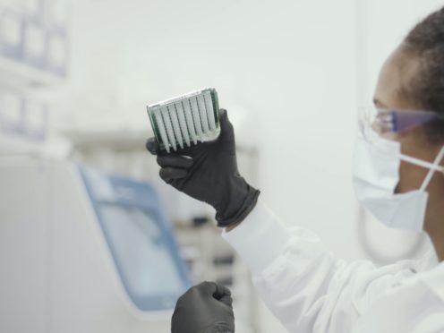 A scientist working on the Moderna coronavirus vaccine (Moderna/PA)