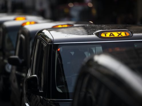 Thousands of drivers in London used finance companies to purchase new electric taxis in recent years (Victoria Jones/PA)