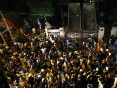Thousands attended the protests (AP Photo/Sakchai Lalit)