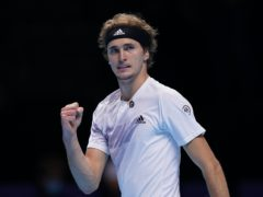 Alexander Zverev celebrates after beating Diego Schwartzman (John Walton/PA)