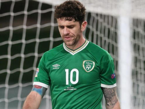 Robbie Brady picked up an injury on international duty this week (Brian Lawless/PA)