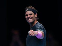 Rafael Nadal celebrates beating Stefanos Tsitsipas (John Walton/PA)