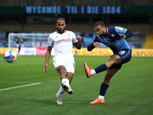 Brentford's Bryan Mbeumo (left) was unable to find a way past the Wycombe defence (Bradley Collyer/PA).