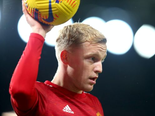 Donny van de Beek started Manchester United's win against Istanbul Basaksehir (Alex Livesey/PA)