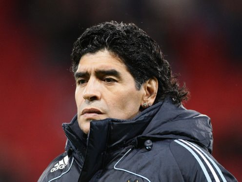 Diego Maradona has died at the age of 60 (Martin Rickett/PA)