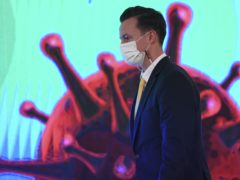 James Teague, president of AstraZeneca in Thailand, attends a signing ceremony (Chalinee Thirasupa/Pool Photo via AP)