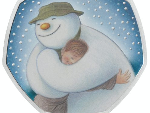 A new 50p coin released by the Royal Mint features The Snowman (The Royal Mint/PA)