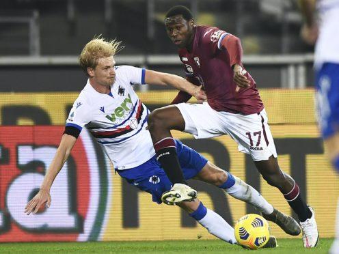 Torino and Sampdoria played to a 2-2 draw on Monday night (Fabio Ferrari/AP)