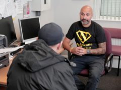 Project clinical lead Daniel Ahmed talks with a patient at the Middlesbrough clinic where addicts are given medical-grade heroin (Stuart Boulton/Office of the Cleveland PCC/PA)