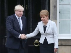 The Scottish and UK governments, led by Nicola Sturgeon and Boris Johnson, must work together, Alister Jack will say (Jane Barlow/PA)