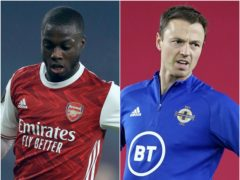 Nicolas Pepe and Jonny Evans are linked with moves (Adam Davy/ Fredrikh Hagen/PA)