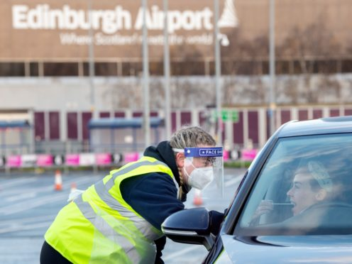 The ExpressTest coronavirus screening centre is now open at Edinburgh Airport (Lesley Martin/PA)