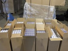 Millions of cigarettes were seized from a Glasgow warehouse (HMRC/PA)