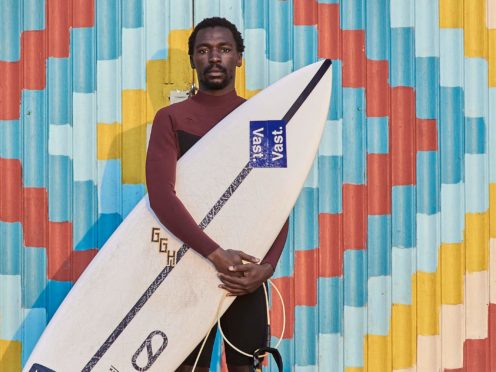 A surfer who lost his brother to a shark attack said he hopes to inspire others after starring in a short film which won what was billed as the world's largest competition for shorts (Sinotho Msweli/PA)