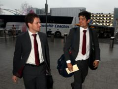 Eoin Morgan, left, was confirmed as Alastair Cook's replacement as England one-day captain (Steve Parsons/PA)