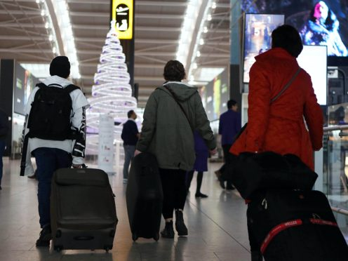 Measures aimed at easing Christmas travel disruption have been unveiled by Transport Secretary Grant Shapps (Steve Parsons/PA)
