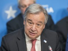 """Antonio Guterres said human activities are driving a """"descent towards chaos"""" (Jack Hill/The Times/PA)"""